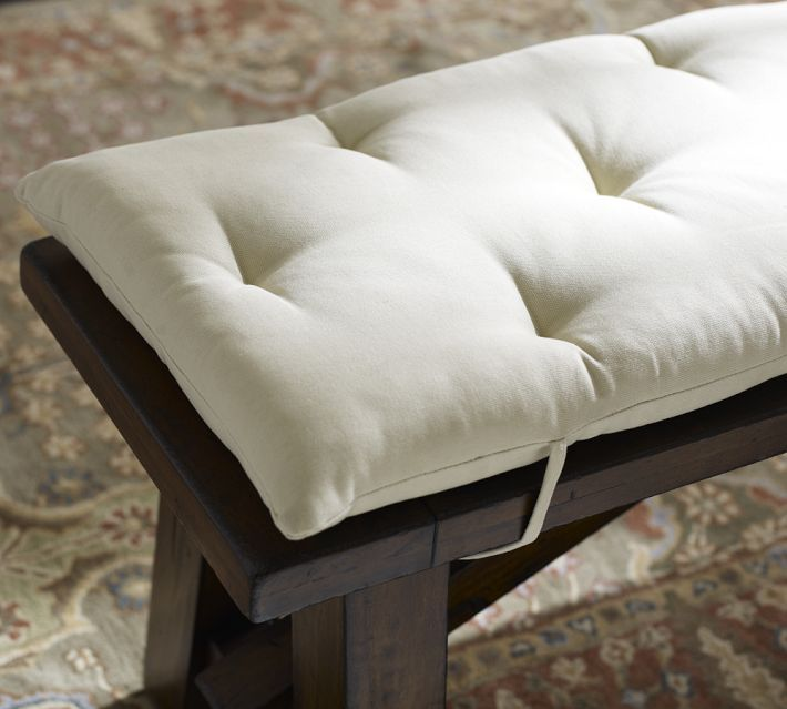 Cushions For Dinning Room Benches That Tie Around The Lids. Half Bench Size  So Each