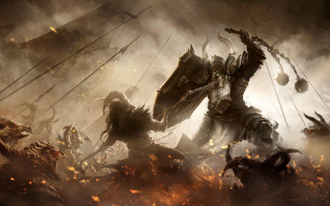 Browsing Diablo Iii Reaper Of Souls On Deviantart Fantasy Art Crusader Wallpaper Art