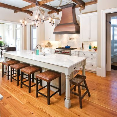 Skinny island with seating kitchens kitchen narrow - Narrow kitchen island with seating ...
