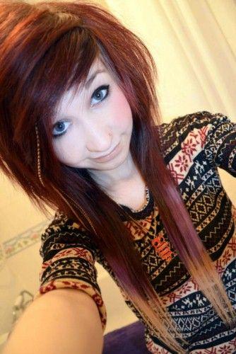 scene hair basically an Asian mullet | Dyed hair, Hair ...