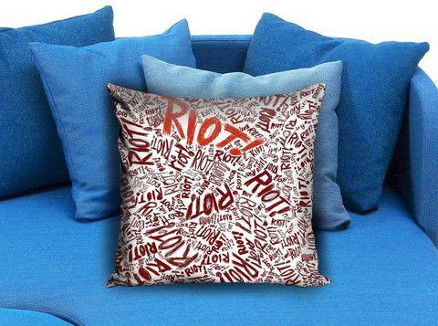 Paramore riot Pillow case #pillowcase #pillow #cover #pillowcover #printed #modernpillowcase #decorative #throwpillowcase
