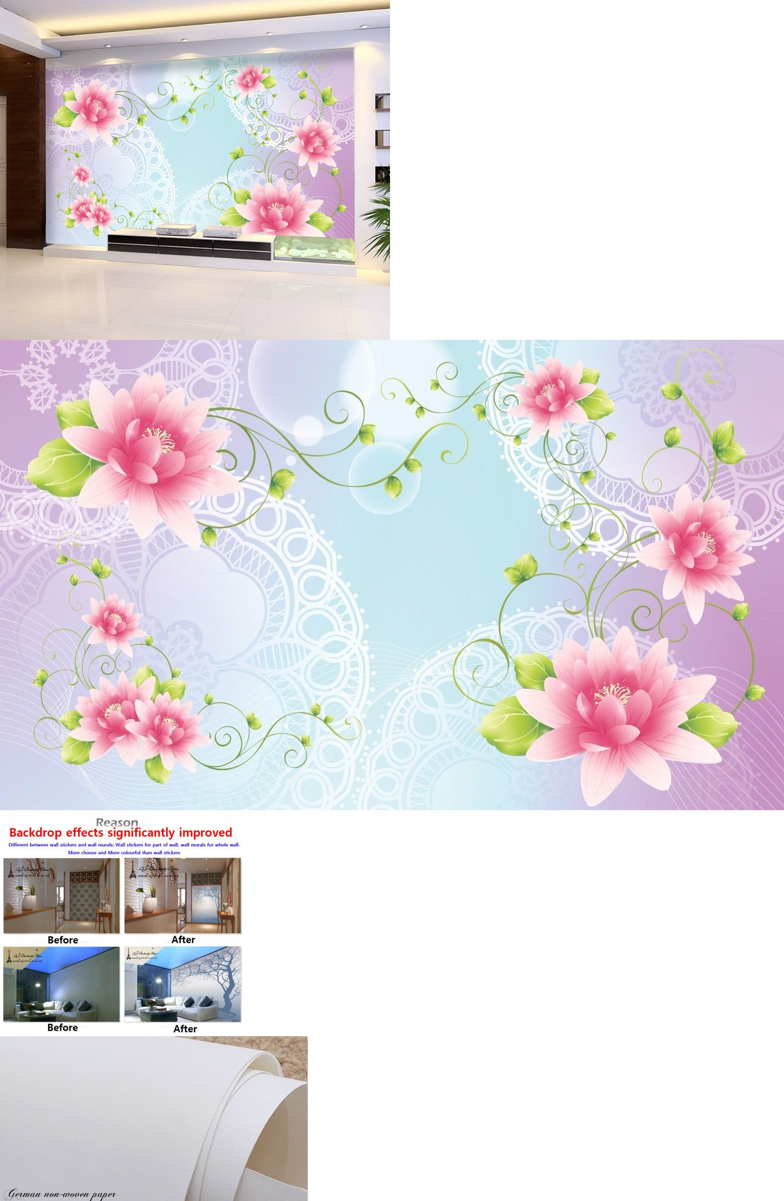 Other Wallpaper 3D Flower Patterns 577 Wall Murals Wallpaper