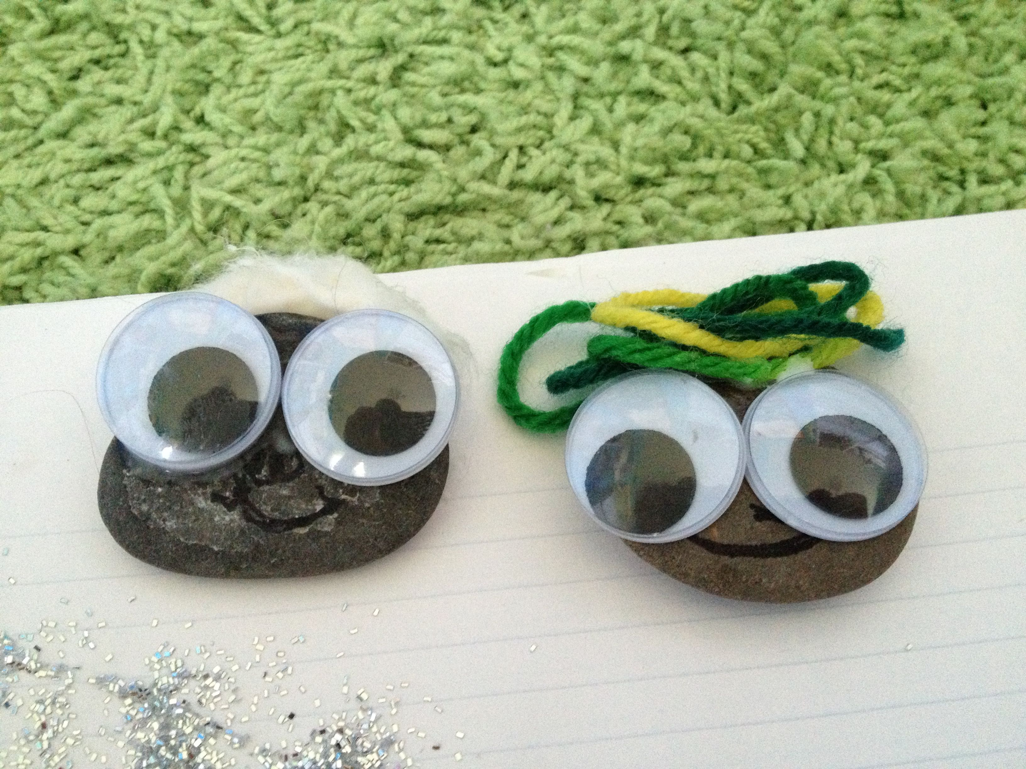 For A Fun But Stupid Craft Glue Eye Balls On Rocks You Can