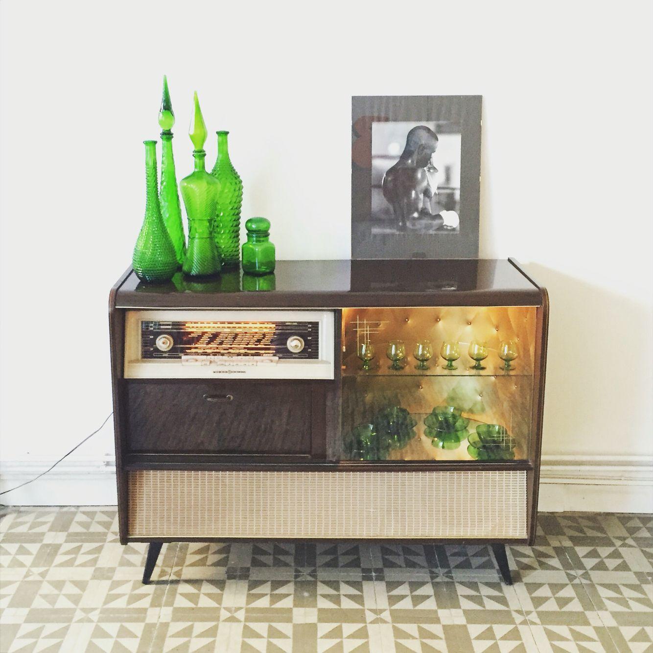 Mueble Radio Bar Vintage 60s Tocadiscos Pinterest Radios  # Muebles Tocadiscos