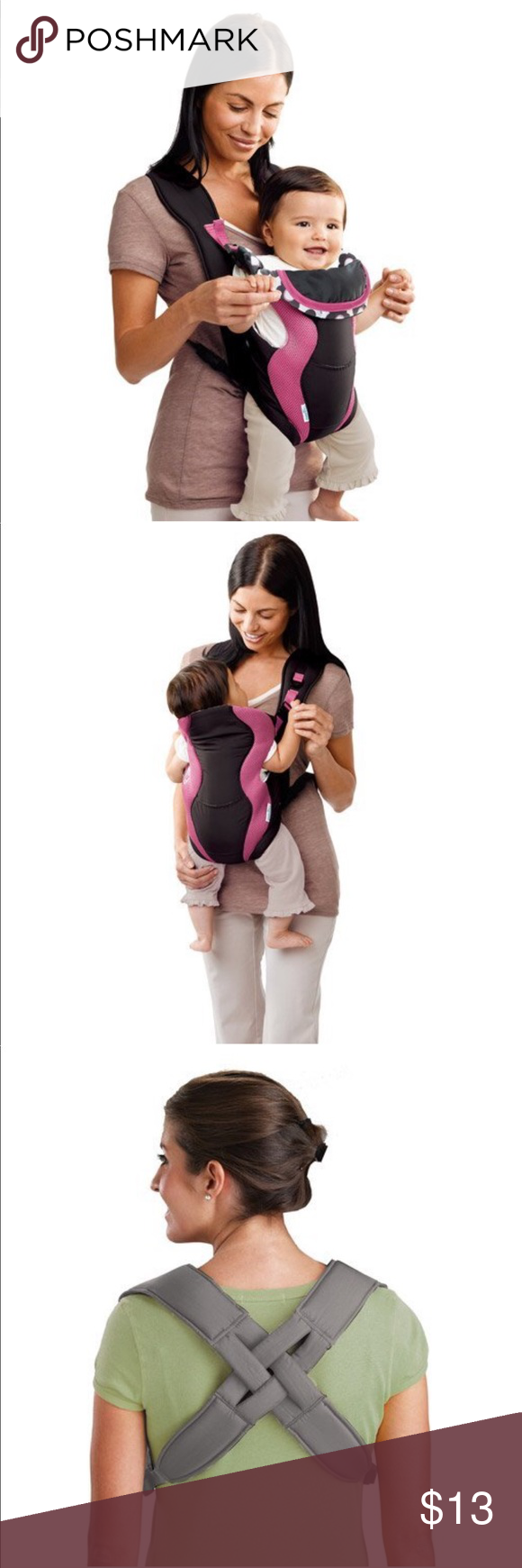 69dd55b728a The Evenflo Breathable Soft Infant Carrier The Evenflo the carrier offers  two carrying positions