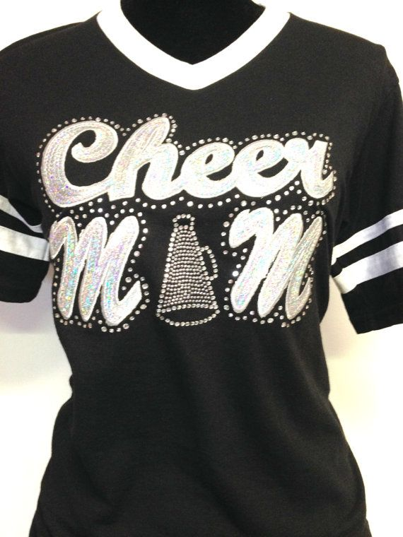 Cheer Shirt Design Ideas blood sweat cheers school spirit custom cheer cheerleading cheerleader t shirt tee high school design Silver Sequinbling Cheer Mom Jersey Shirt By Cheekslittleboutique 2000
