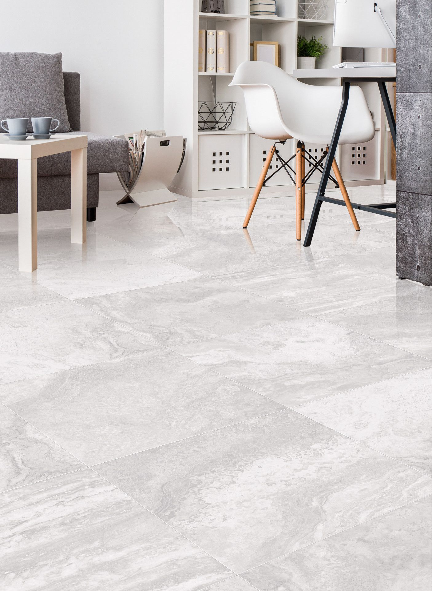 Elite Travertine Silver Grey Tile I N T E R I O R S H O M E