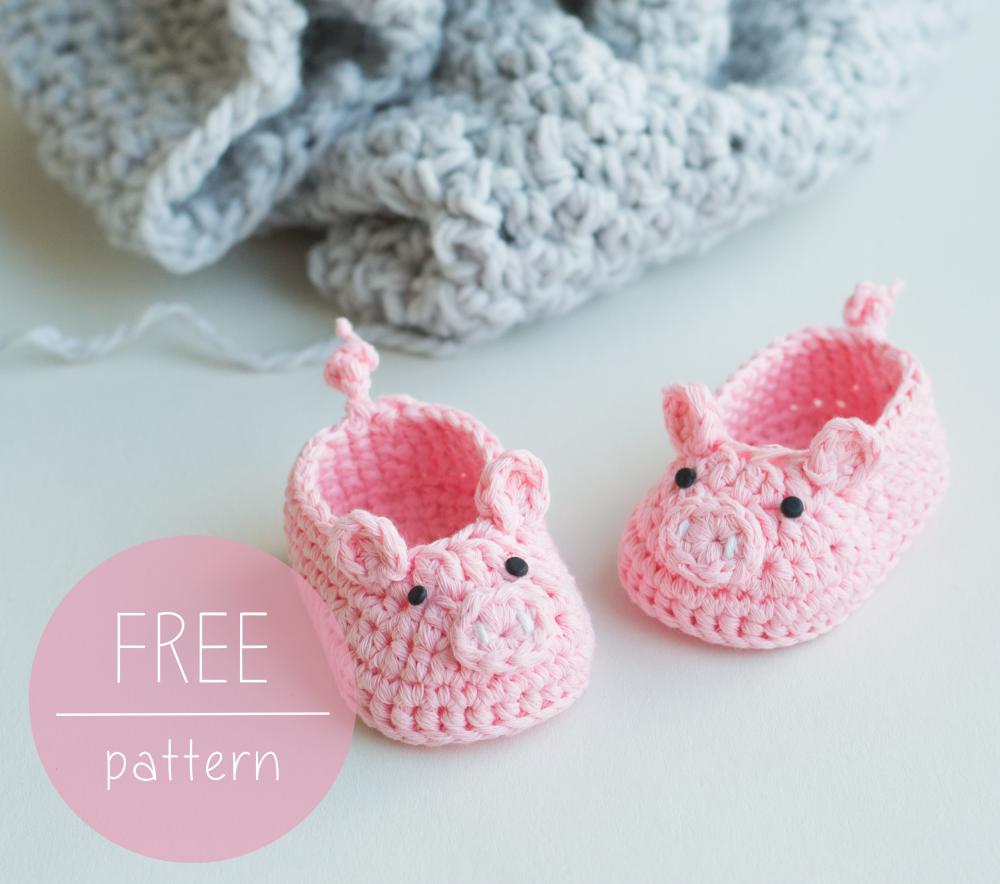 Piggy Bootes by Croby Patterns | Häkeln | Pinterest | Babyschühchen ...