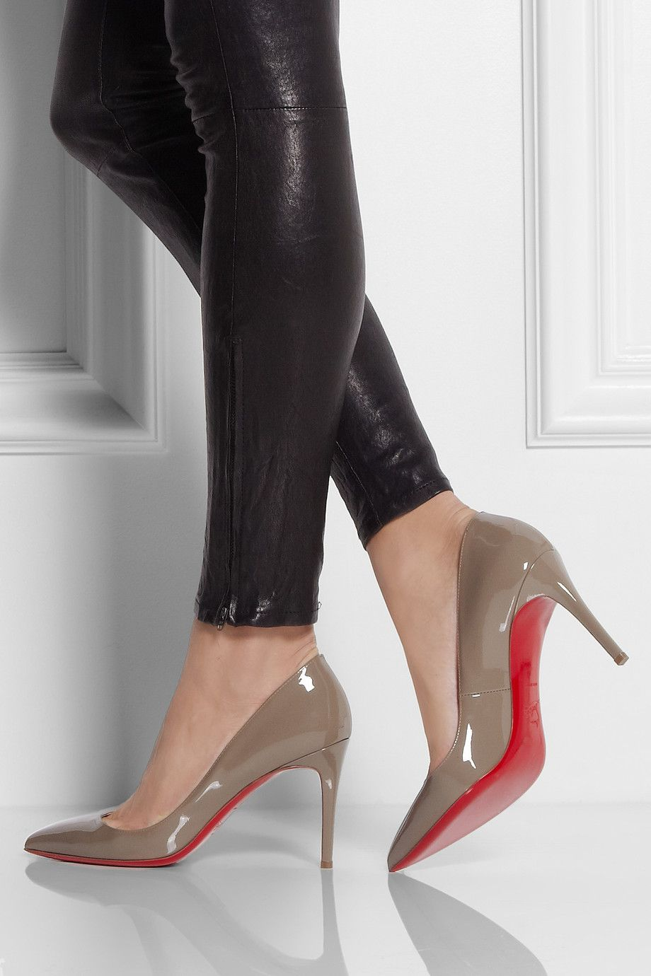 best cheap 87615 5c9e2 Christian Louboutin | The Pigalle 85 patent-leather pumps ...