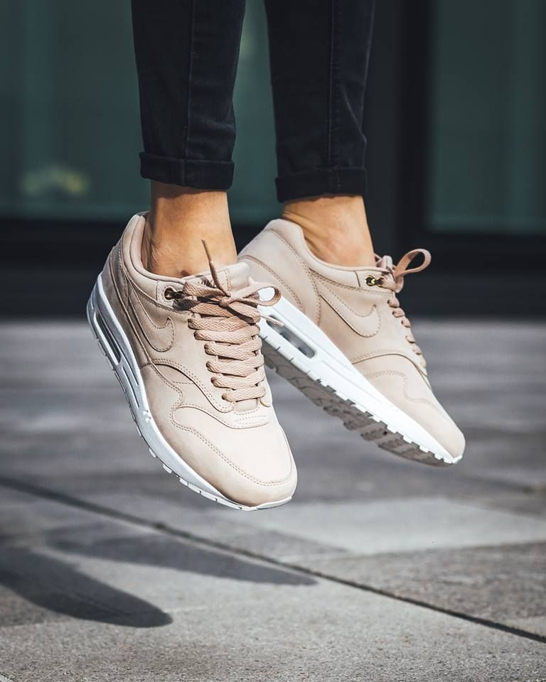The women's Nike Air Max 1 Premium is featured in a new bio