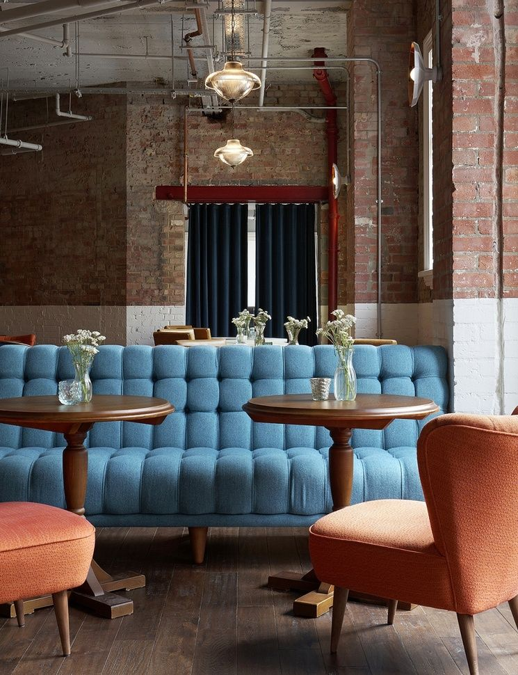 Picturehouse Central London   Vintage Industrial Style   banquette seating