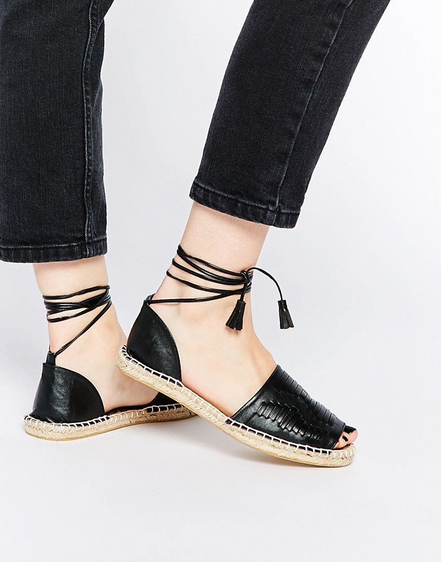ASOS Collection Shoes Women ASOS JAVA Tie Leg Woven Espadrilles