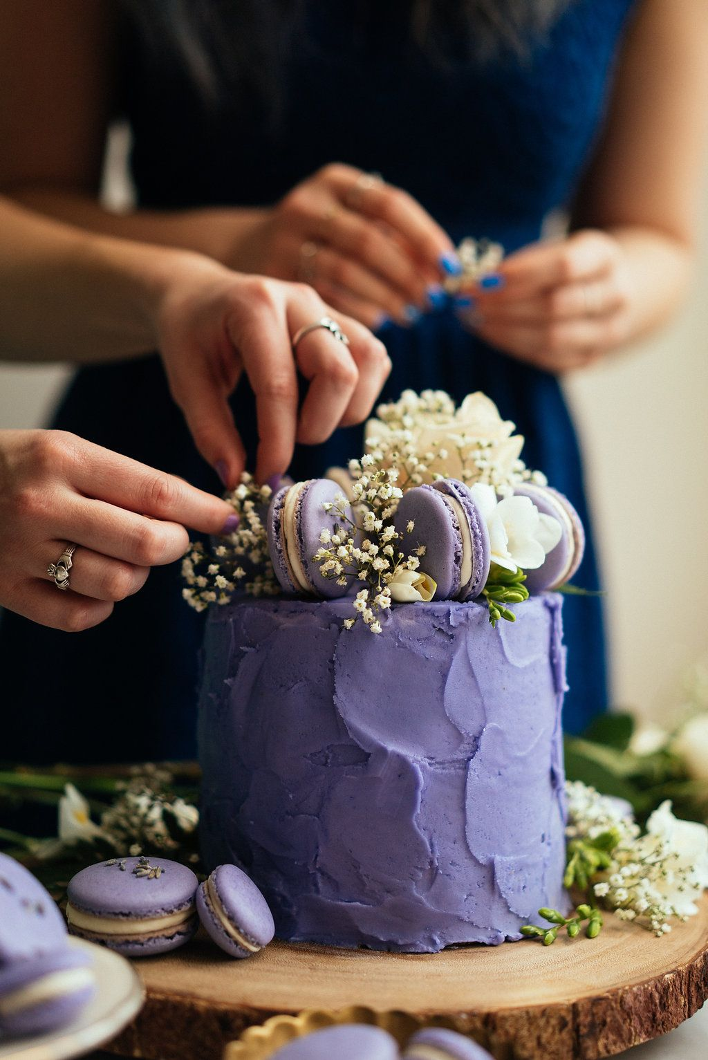 Lavender Earl Grey Cake With Lavender Macarons