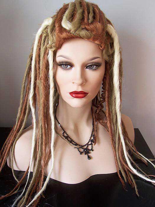 Wig, Nirvana Narnia, Dreadlock wigs, Golden Blonde, Strawberry Blonde, Pale Blonde