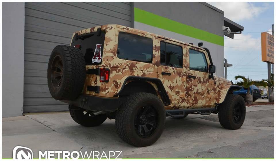 Salute Worthy Jeep Wrangler In Digital Desert Camo Jeep Jeep