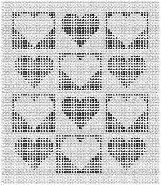Hartjes Filethaken Haaksteken Crochetstich Pinterest Filet