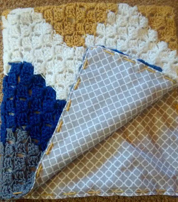Chevron Crochet Backed Baby Blanket by EpicCrochetCreations | Epic ...