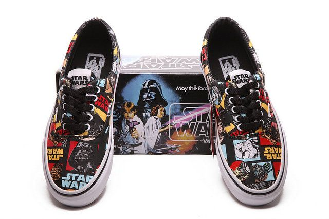 85331edca1f893 VANS Comics Casual Era Marvel Black Red Cool Star Wars May The Force Be  With You Off The Wall Skate Shoes  S6010704  -  58.00   Vans Skateboard  Shoes Shop ...