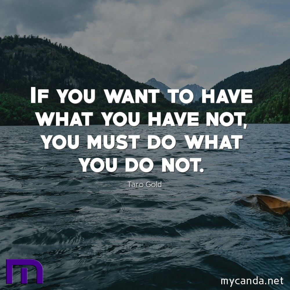 Want To Have What You Have Not