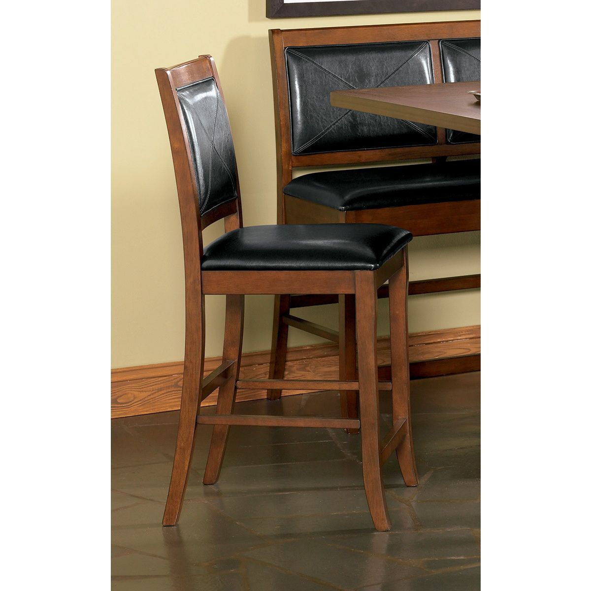 Coaster Company Contemporary Dining Chair Frame, Black Seat