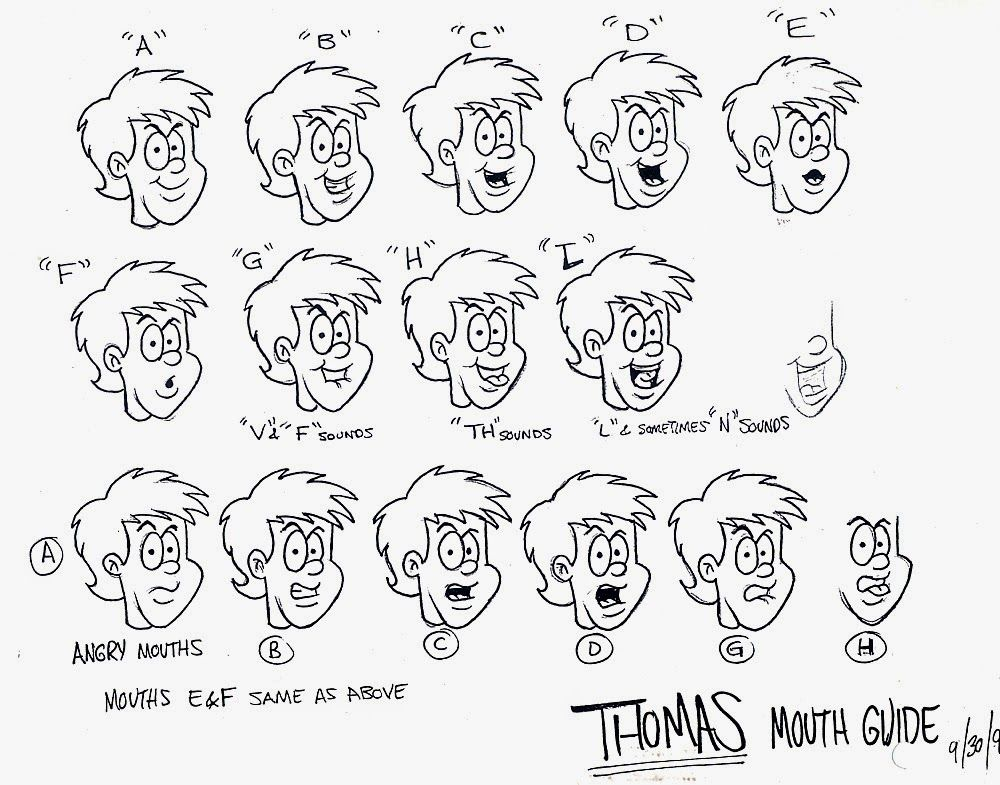 mouth chart for toon boom - Google Search