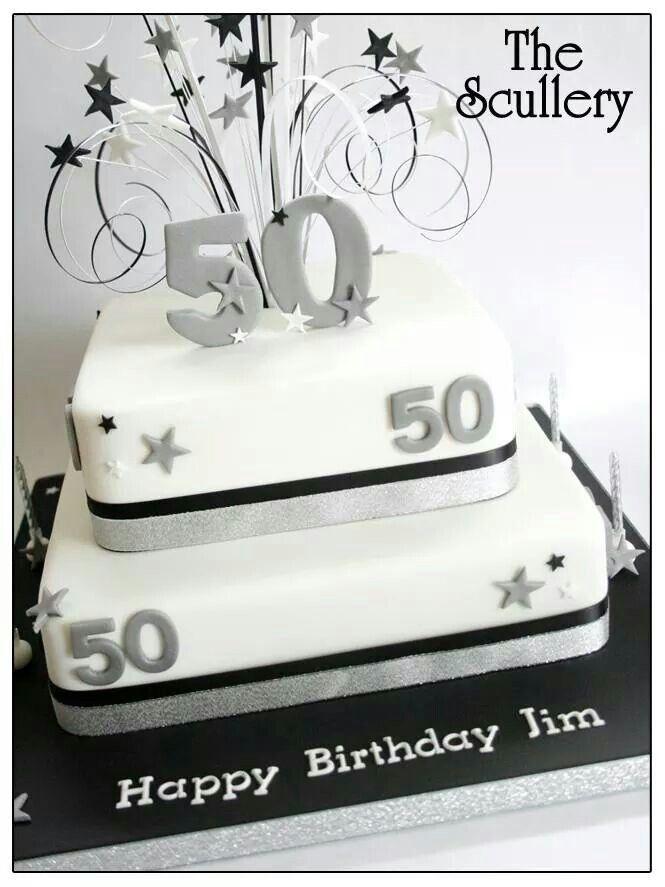 Simple 50 Birthday Cake Idea For Neil Pinteres
