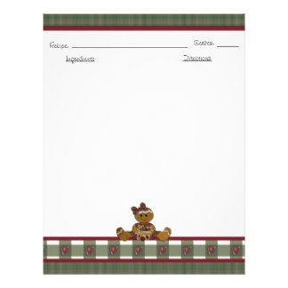 find great designs for recipe book paper letterhead on zazzle increase the brand awareness of your company with every memo letter or note you send