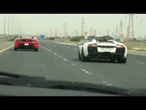 Kuwait Cars Having Fun Porsche GT2 Modded FERRARI Scuderia Mercedes CLS 55  Modified Porsche GT3 RS