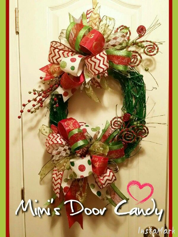 Christmas vine wreath made by me! Christmas door decor Pinterest