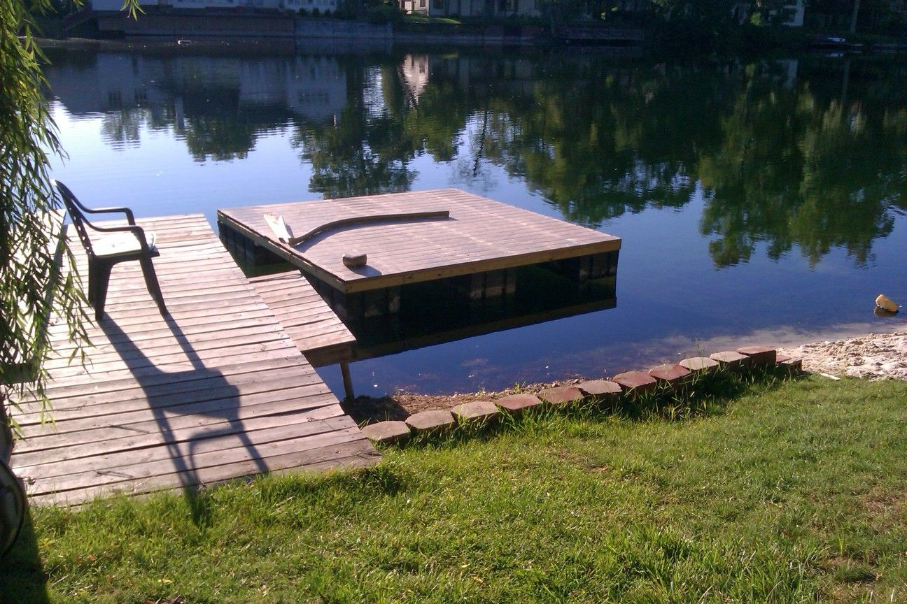 Floating dock from free re-used parts | Things Ive Made
