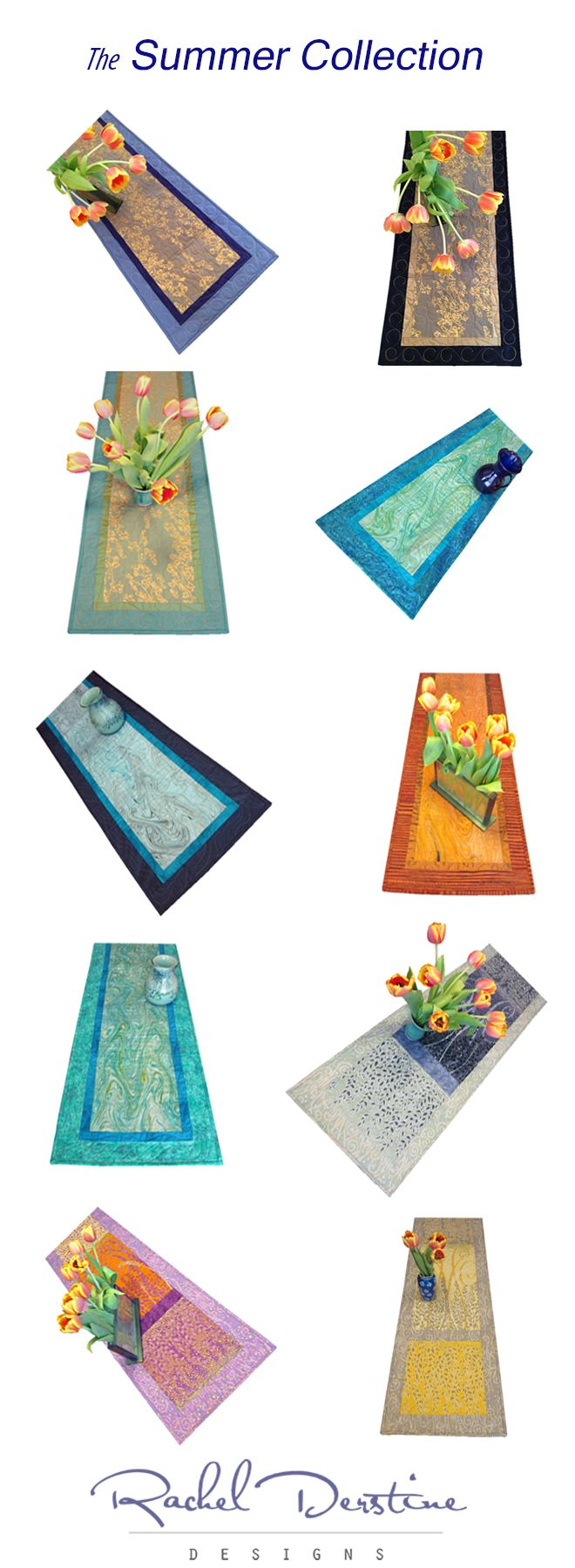 Are you ready to entertain this summer?  Here are table runners for every occasion. Contact me to have one made in a custom length.  Here is your 20% off coupon code: http://eepurl.com/bSKGHX