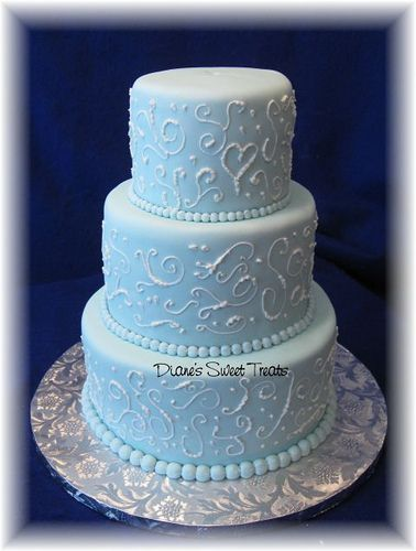 light blue wedding cakes light blue fondant wedding cake with scrolls fondant 16856