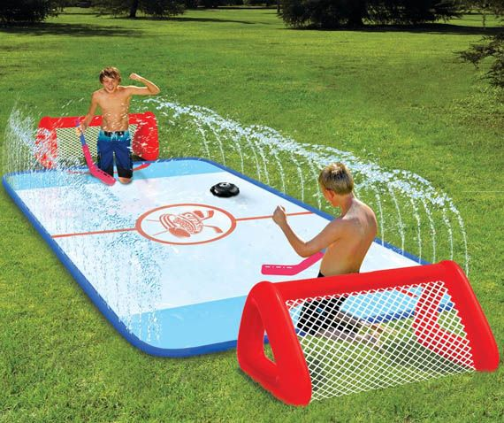 Must find this for summer! Love it!!! CJ & Ray will have a blast! Outdoor hockey rink