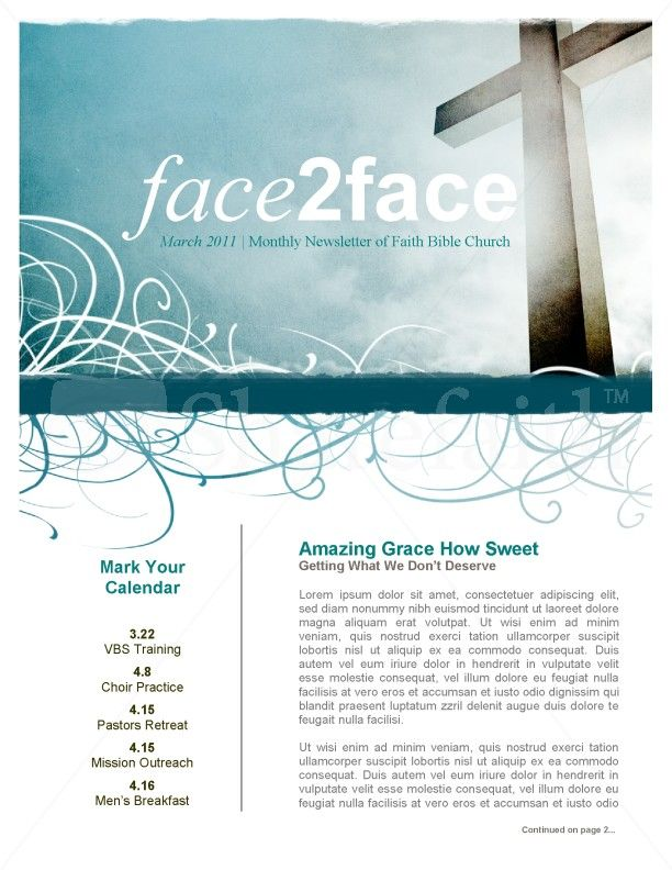 Amazing Newsletters  Amazing Grace Church Newsletter  Page