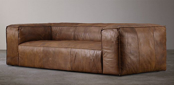 Leather Seating Restoration Hardware Home Pinterest Fulham And