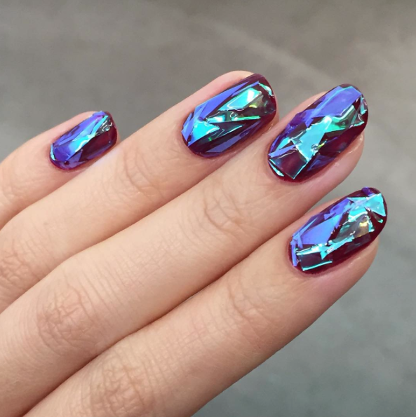 Broken glass nails are the latest manicure trend and theyre as broken glass nails are the latest manicure trend and theyre as badass as they sound prinsesfo Images