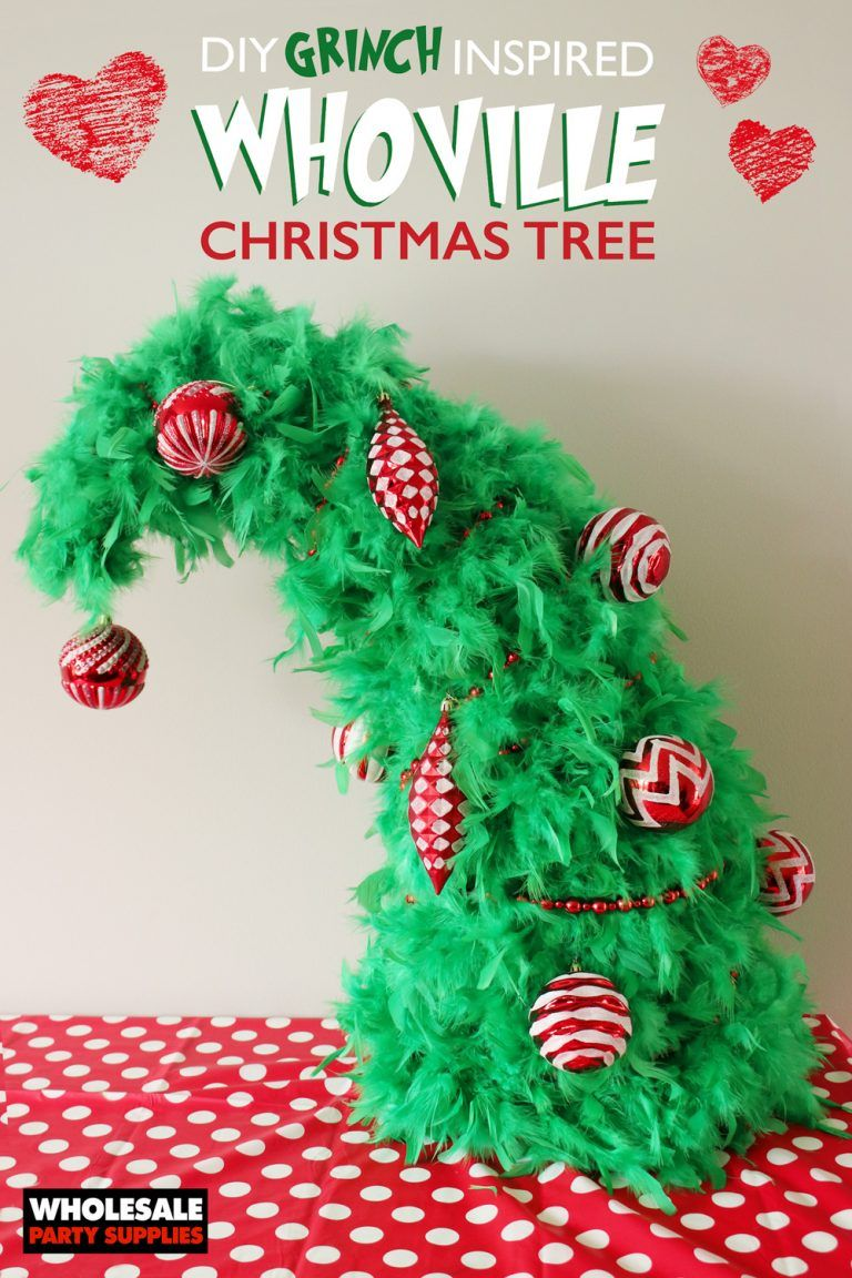 Diy Whoville Christmas Tree Whoville Christmas Christmas Tree Decorations Diy Grinch Christmas Tree