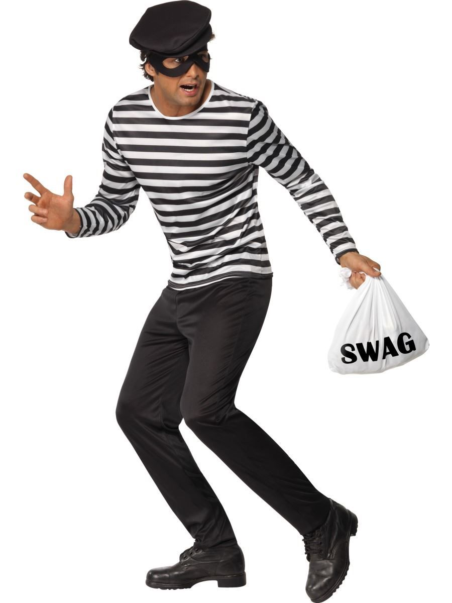 Diy Bank Robber Shirt Details About Mens Burglar Thief Fancy Dress Costume Stag Party