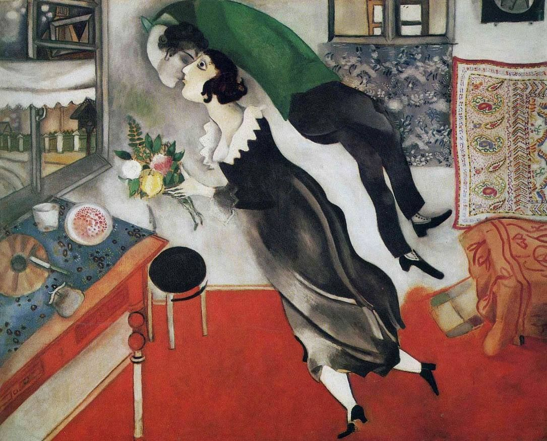 The Birthday (1915) MARC CHAGALL