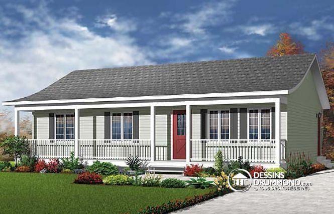 Plan de maison no W4051 de dessinsdrummond Maison Pinterest