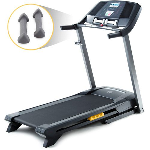 Gold S Gym Trainer 410 Treadmill 377 Not The Most Ritzy Treadmill But I Still Want It For My At Home Fitness Home Gym Gym Trainer No Equipment Worko