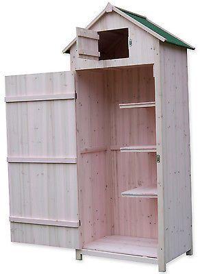 Details About Woodside Wooden Sentry Box Outdoor Garden Storage