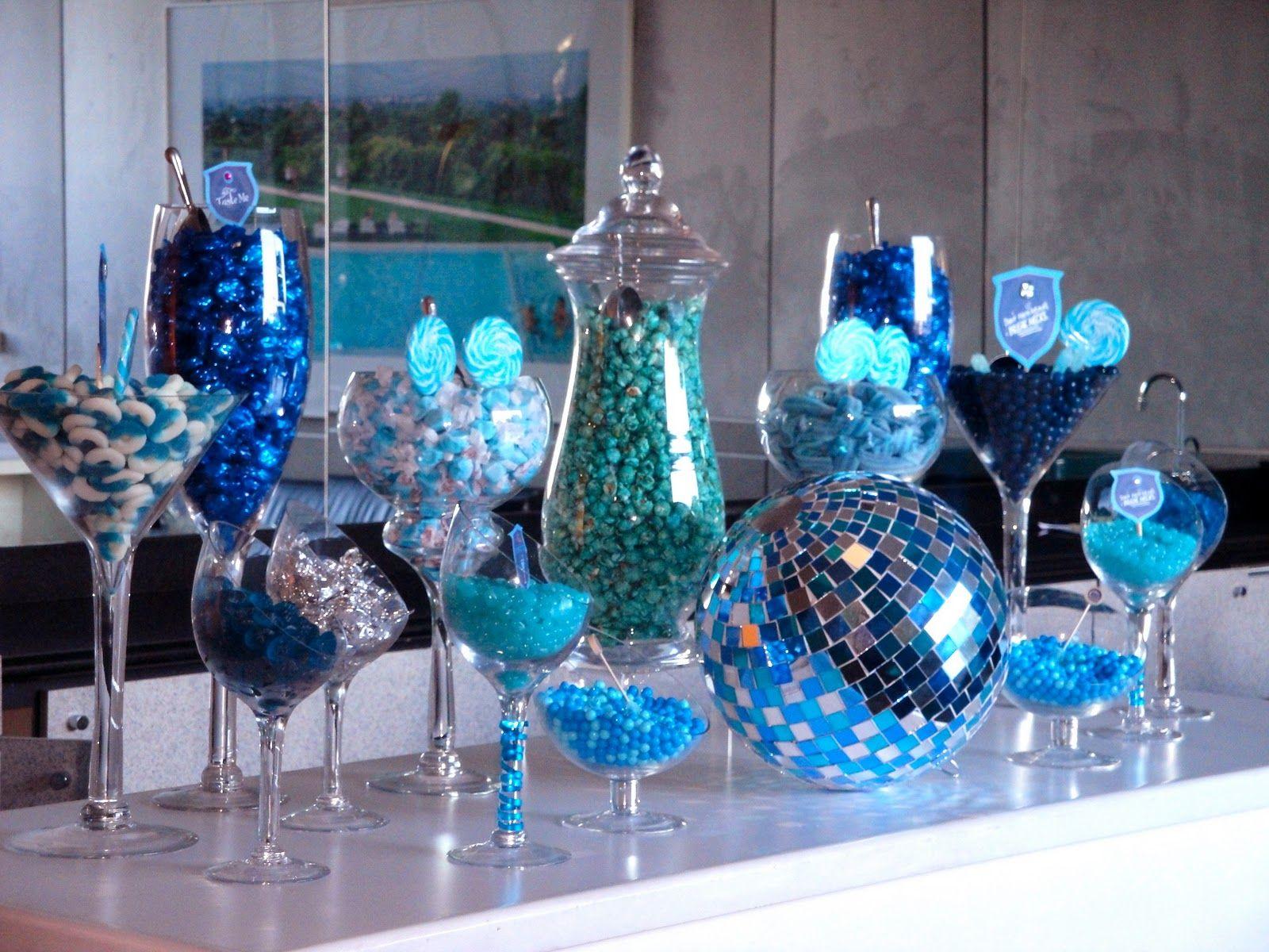 Blue Candy Bar Love It Blue Candy Buffet Candy Buffet Bar Blue Candy