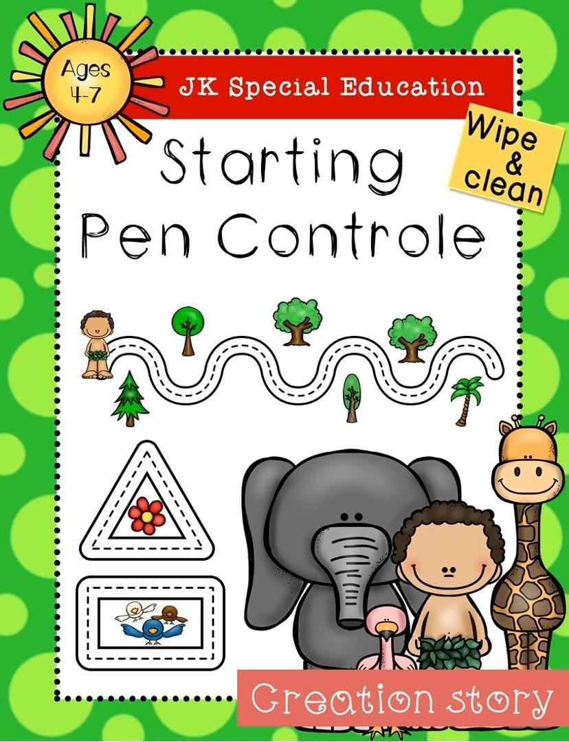 Creation Story Pen Controle Pages Video Pre Writing Activities Pre Writing Writing Activities [ 1080 x 828 Pixel ]