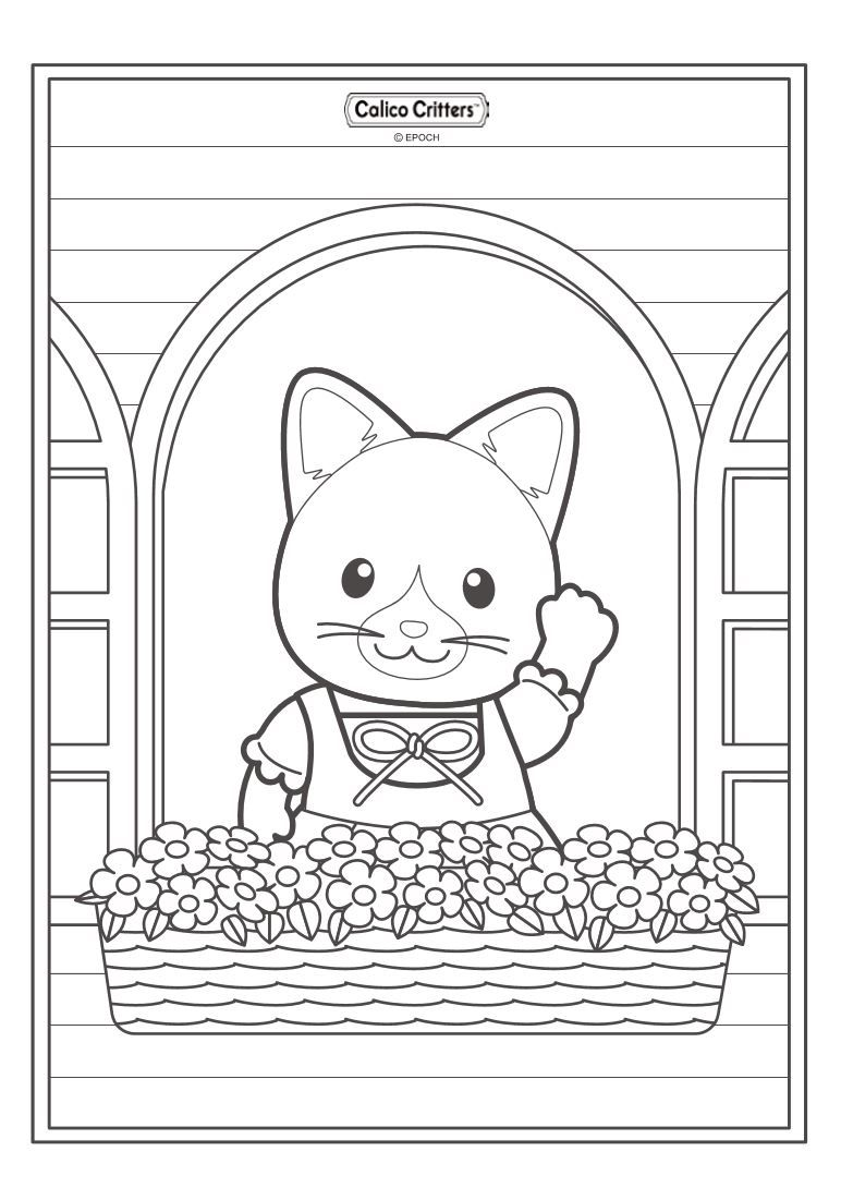 17 Coloring Pages Of Calico Critters Family Coloring Pages Free