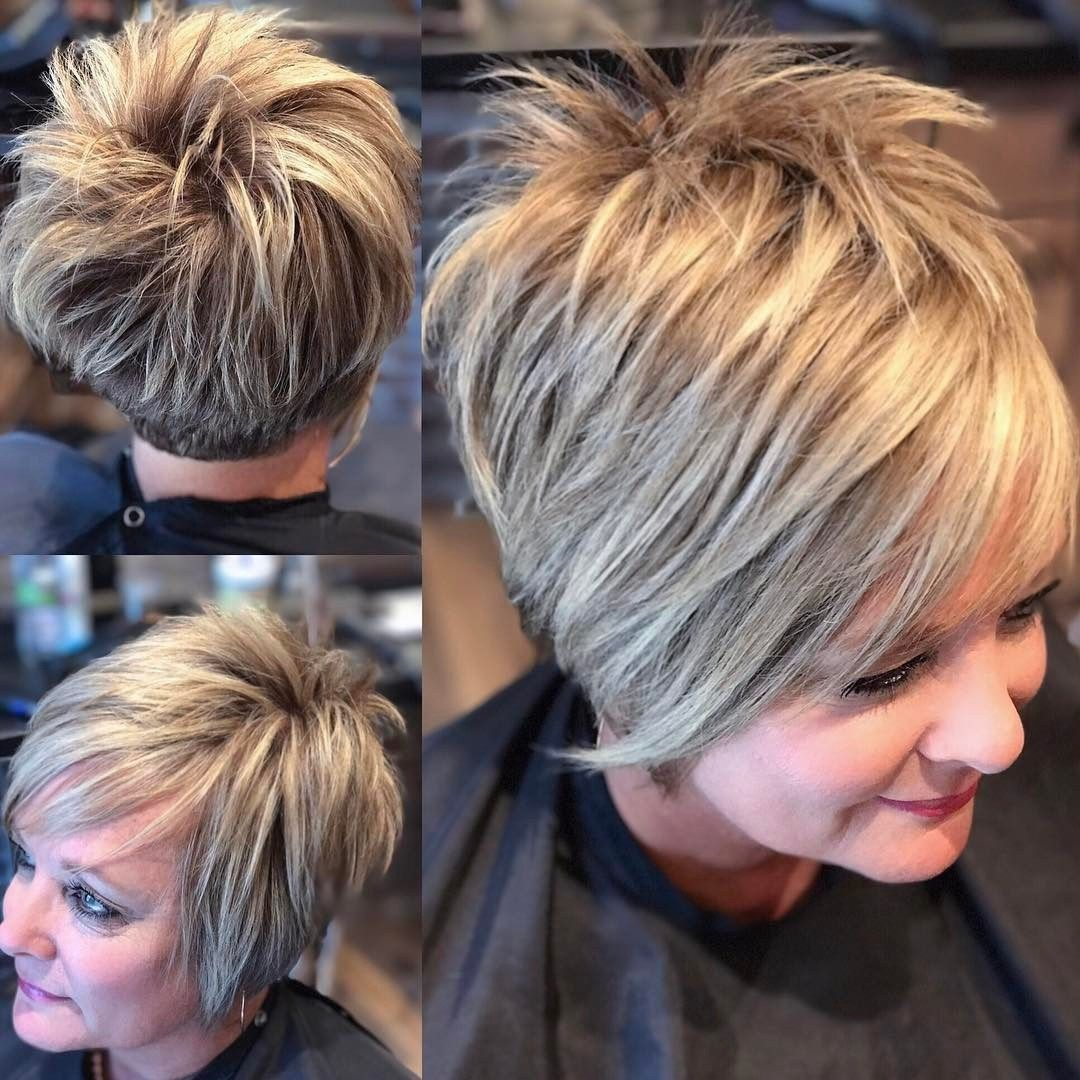 60 Most Prominent Hairstyles For Women Over 40 Thick Hair Styles Short Hair With Layers Hair Styles
