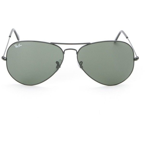 41ea95888ce Ray-Ban aviator sunglasses (€180) ❤ liked on Polyvore featuring  accessories