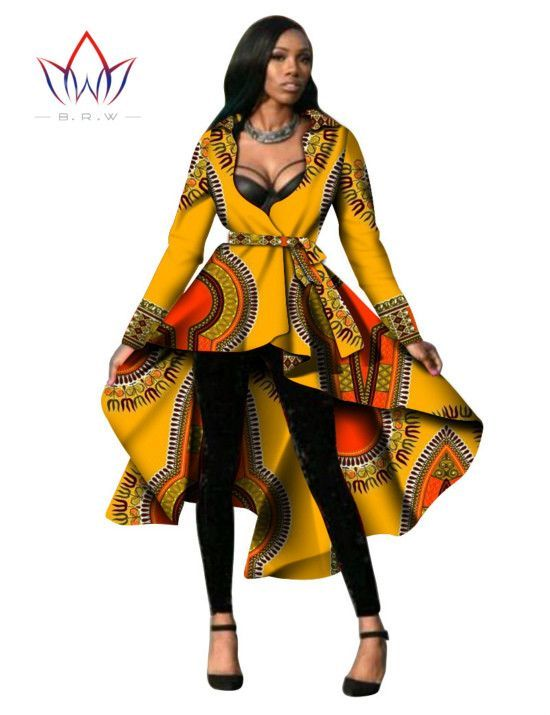 4f388391d5299 Custom Made Women African Clothing Dashiki Trench Coat African Style ...