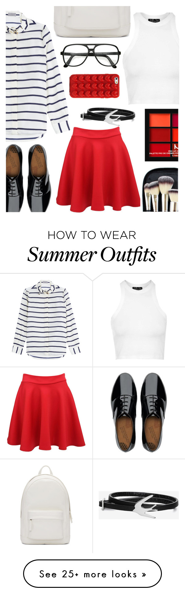 """""""summer outfit #8"""" by nicholas-the-third on Polyvore featuring Preen, Pilot, Topshop, FitFlop, PB 0110, Morphe, Marc Jacobs and McQ by Alexander McQueen"""