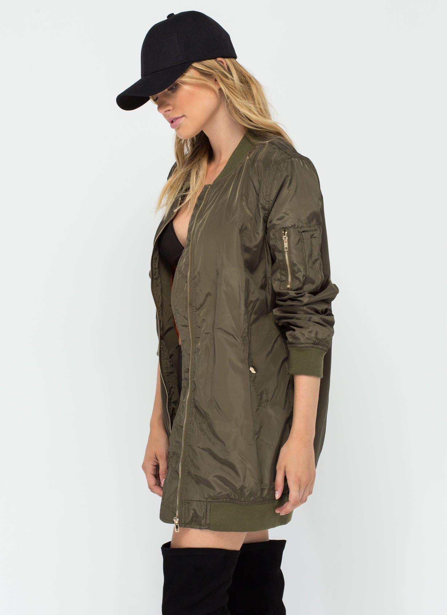 Long Haul Bomber Jacket OLIVE Jackets, Bomber jacket